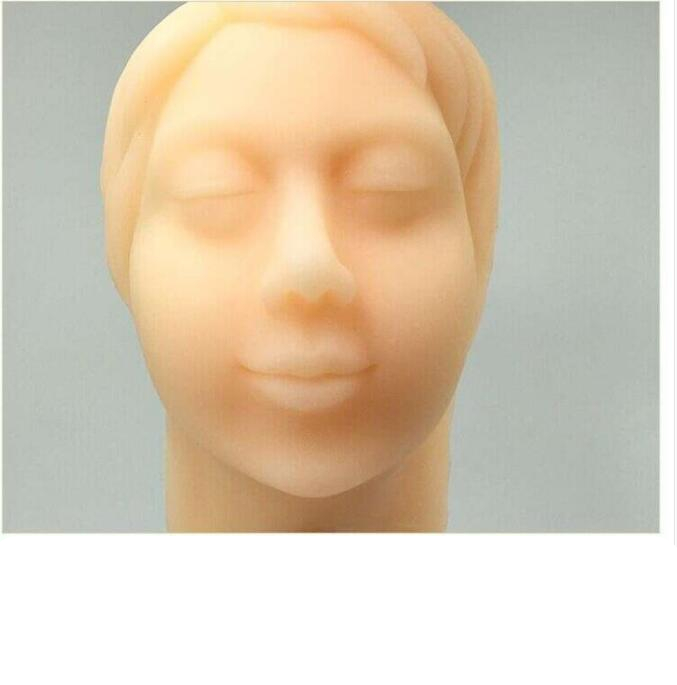 Silicon gel facial head injection model