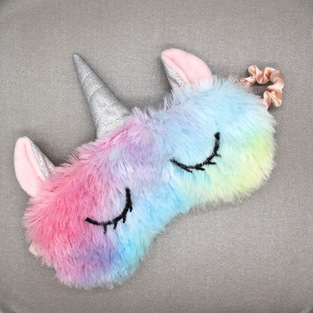Soft Plush Ice Cream Unicorn Sleeping Eyes Mask